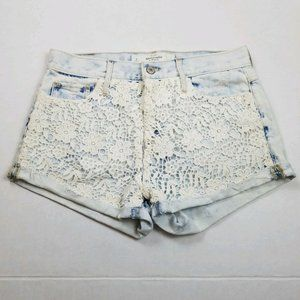 Abercrombie & Fitch Lace Front High Rise Shorts